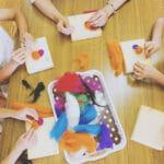 小学校での羊毛フェルト教室のご報告「ハロウィン指輪」