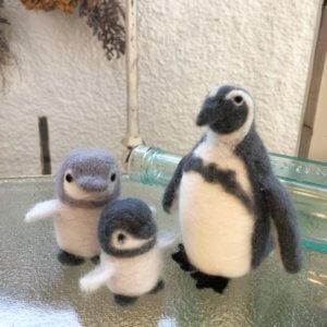 羊毛フェルトの「動物・ペンギンコース」作品レポート