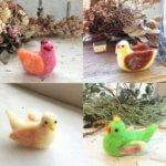 羊毛フェルトの「小鳥・クマ・子ヤギ/動物基本コース」