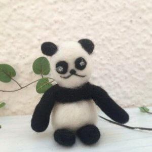 羊毛フェルトの「パンダ」作品レポート