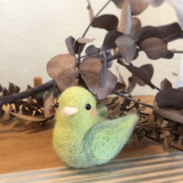 羊毛フェルトの小鳥 作品レポート