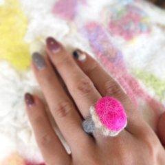 羊毛フェルトの「指輪・ネックレス」作品レポート