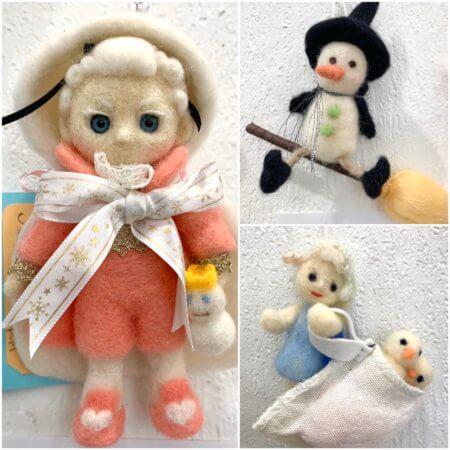 羊毛フェルト作品展での「雪だるま」作品のご紹介(4)