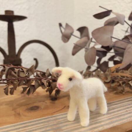 羊毛フェルトの子ヤギ作品レポート