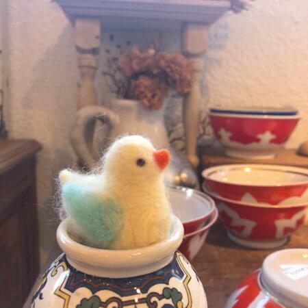 羊毛フェルトの「小鳥 」作品レポート